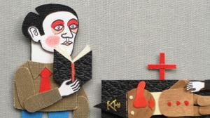 A funeral - Still from the animation Tre storie innaturali (Luca Dipierro, 2013)