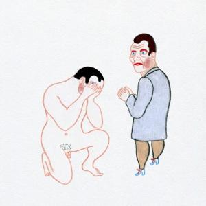 Penitenza - Pencil drawing by Luca Dipierro for the booklet Fine del Mondo (The Walk, 2014)